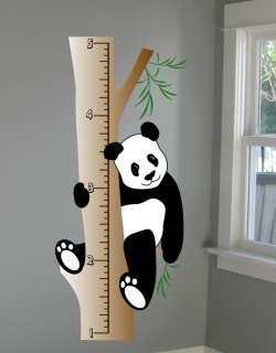 Panda Growth Chart Wall Decal   Deco Art Sticker Mural