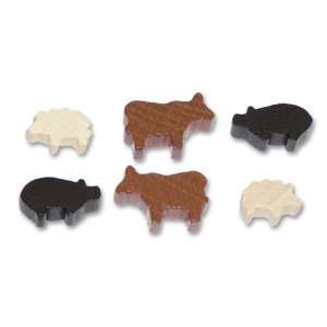 Animeeples Wooden Farm Animals Toys & Games