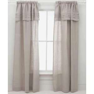 Pine Cone Hill Curtain Panel Pleated Linen Natural 84inch